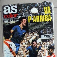Coleccionismo deportivo: REVISTA AS COLOR Nº435 AÑO 1979 PÓSTER VALENCIA CF KEMPES. ATLÉTICO MADRILEÑO SABADELL FÚTBOL . Lote 195242515