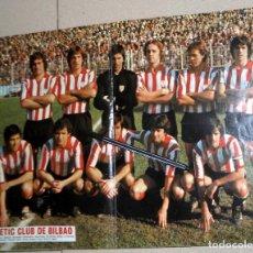 Coleccionismo deportivo: PÓSTER ANTIGUO AS COLOR - ATHLETIC CLUB DE BILBAO FÚTBOL VINTAGE - ROJO SARABIA VILLAR ARGOTE. Lote 195242732