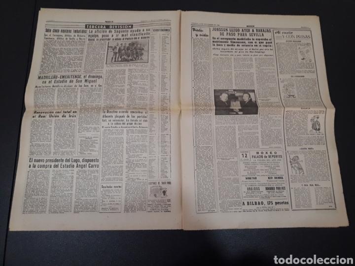 Coleccionismo deportivo: 11/11/1960. ZARAGOZA LUGO SEVILLA JONSSON FONTAINE VALENCIA CF BALMANYA. - Foto 3 - 195259278