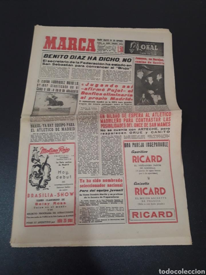 11/11/1960. ZARAGOZA LUGO SEVILLA JONSSON FONTAINE VALENCIA CF BALMANYA. (Coleccionismo Deportivo - Revistas y Periódicos - Marca)