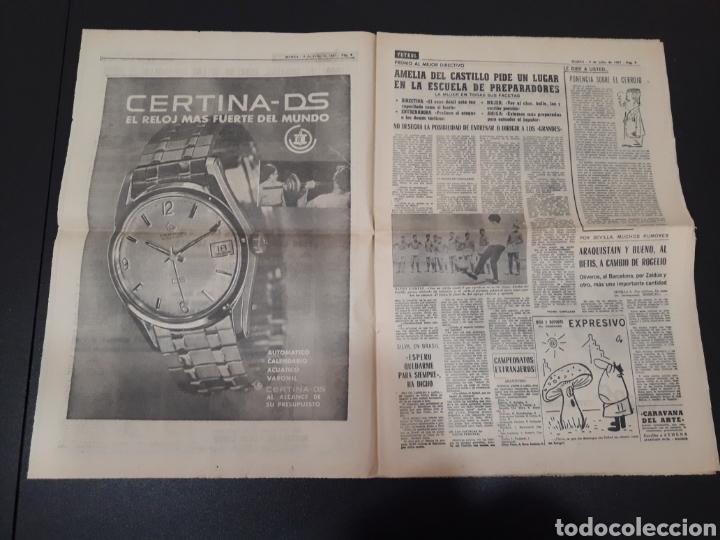 Coleccionismo deportivo: 09/07/1967. ORANTES GANADOR WIMBLEDON CICLISMO JIMENEZ BOXEO UZCUDUN. - Foto 3 - 195259860