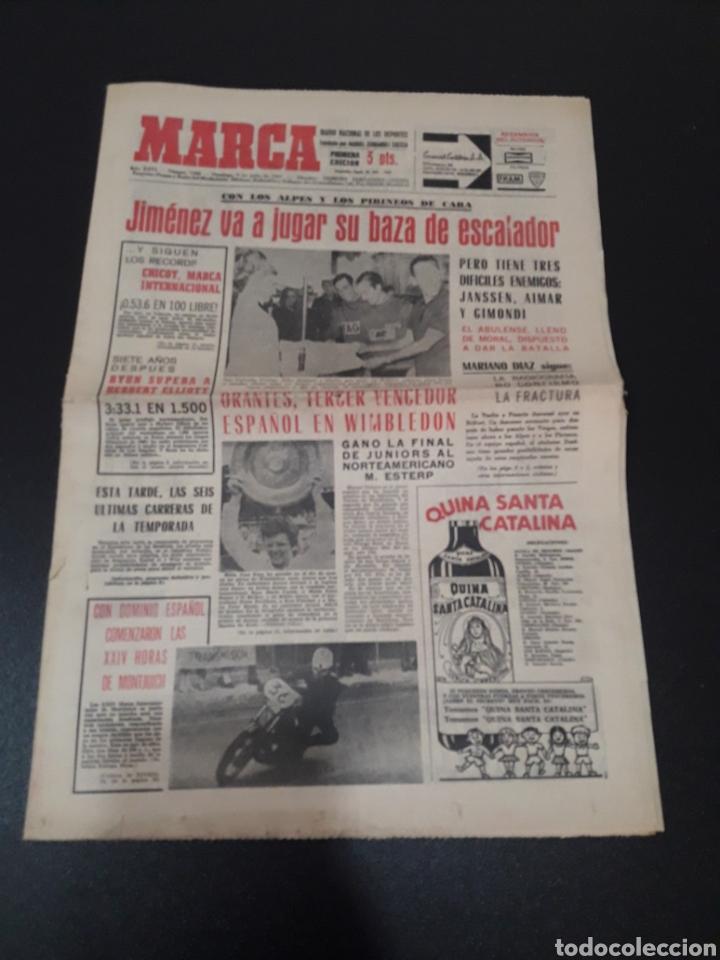 09/07/1967. ORANTES GANADOR WIMBLEDON CICLISMO JIMENEZ BOXEO UZCUDUN. (Coleccionismo Deportivo - Revistas y Periódicos - Marca)