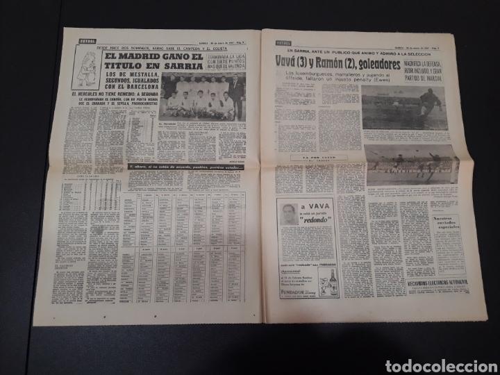 Coleccionismo deportivo: 30/01/1967. ESPAÑA LUXEMBURGO COPA BETIS CASTELLON CEUTA FERROL OVIEDO. - Foto 2 - 195260163