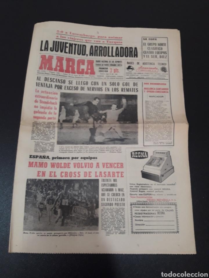 30/01/1967. ESPAÑA LUXEMBURGO COPA BETIS CASTELLON CEUTA FERROL OVIEDO. (Coleccionismo Deportivo - Revistas y Periódicos - Marca)