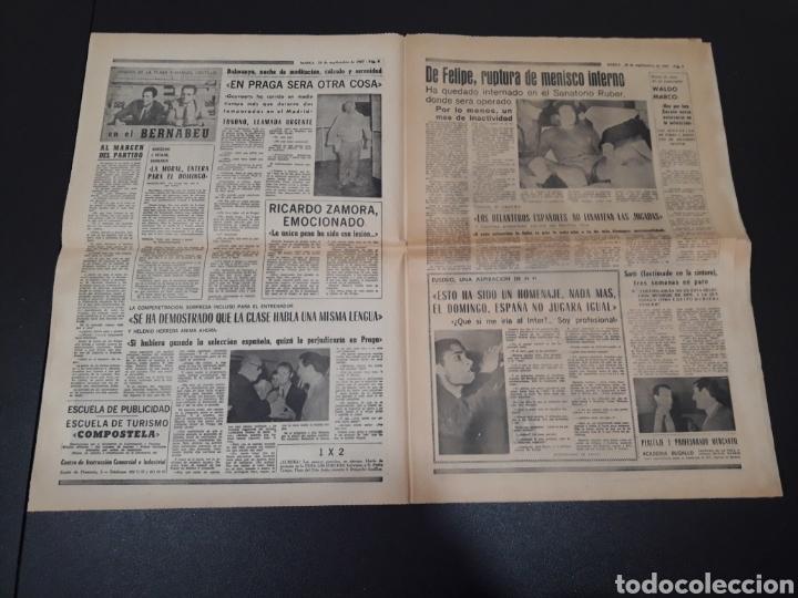 Coleccionismo deportivo: 28/09/1967. HOMENAJE A ZAMORA ESPAÑA SEL INTERNACIONAL HIBERNIANS MANCHESTER COPA EUROPA. - Foto 3 - 195260446
