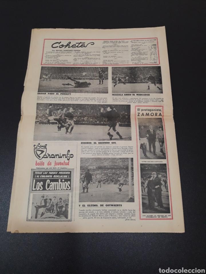 Coleccionismo deportivo: 28/09/1967. HOMENAJE A ZAMORA ESPAÑA SEL INTERNACIONAL HIBERNIANS MANCHESTER COPA EUROPA. - Foto 9 - 195260446