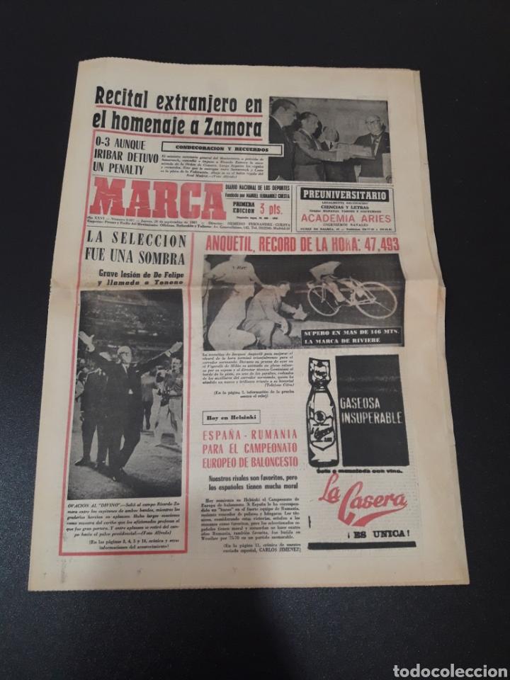 28/09/1967. HOMENAJE A ZAMORA ESPAÑA SEL INTERNACIONAL HIBERNIANS MANCHESTER COPA EUROPA. (Coleccionismo Deportivo - Revistas y Periódicos - Marca)