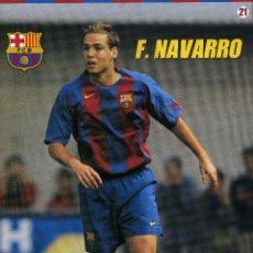 Coleccionismo deportivo: F. NAVARRO - F. C. BARCELONA. Lote 195300791