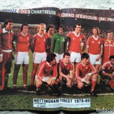 Coleccionismo deportivo: AS COLOR 459 POSTER NOTTINGHAMT FOREST 1979-80. Lote 195335430