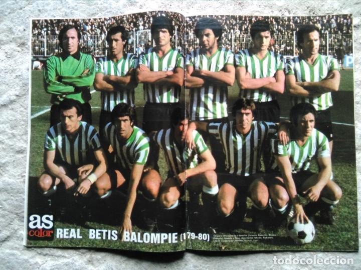AS COLOR 456 POSTER REAL BETIS BALOMPIÉ 1979-80 (Coleccionismo Deportivo - Revistas y Periódicos - As)