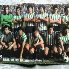 Coleccionismo deportivo: AS COLOR 456 POSTER REAL BETIS BALOMPIÉ 1979-80. Lote 195335738