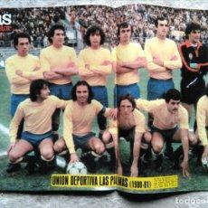 Coleccionismo deportivo: AS COLOR 507 POSTER UNIÓN DEPORTIVA LAS PALMAS 1980-81 . Lote 195336053