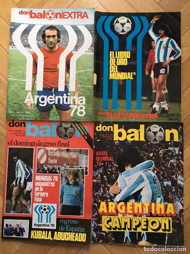 LOTE 4 REVISTAS DON BALON EXTRA ESPECIAL MUNDIAL ARGENTINA 1978 FINAL (Coleccionismo Deportivo - Revistas y Periódicos - Don Balón)