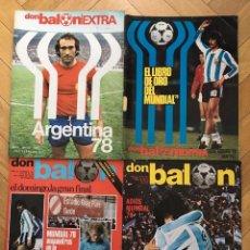 Coleccionismo deportivo: LOTE 4 REVISTAS DON BALON EXTRA ESPECIAL MUNDIAL ARGENTINA 1978 FINAL . Lote 195342673