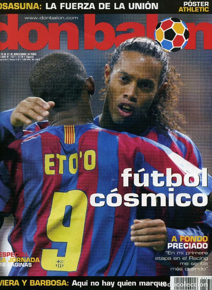 DON BALÓN - REAL MADRID 0 FC BARCELONA 3 - FÚTBOL CÓSMICO (Coleccionismo Deportivo - Revistas y Periódicos - Don Balón)