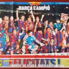 Coleccionismo deportivo: FC BARCELONA - CAMPEÓN COPA DEL REY 1997. Lote 195354898