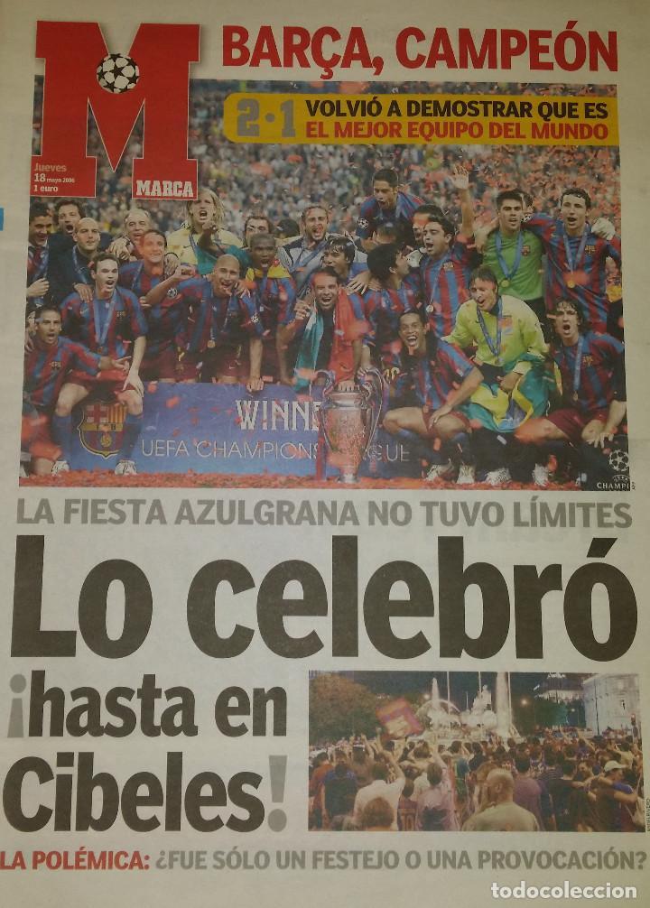 FINAL CHAMPIONS 2006 - FC BARCELONA & ARSENAL (Coleccionismo Deportivo - Revistas y Periódicos - Marca)