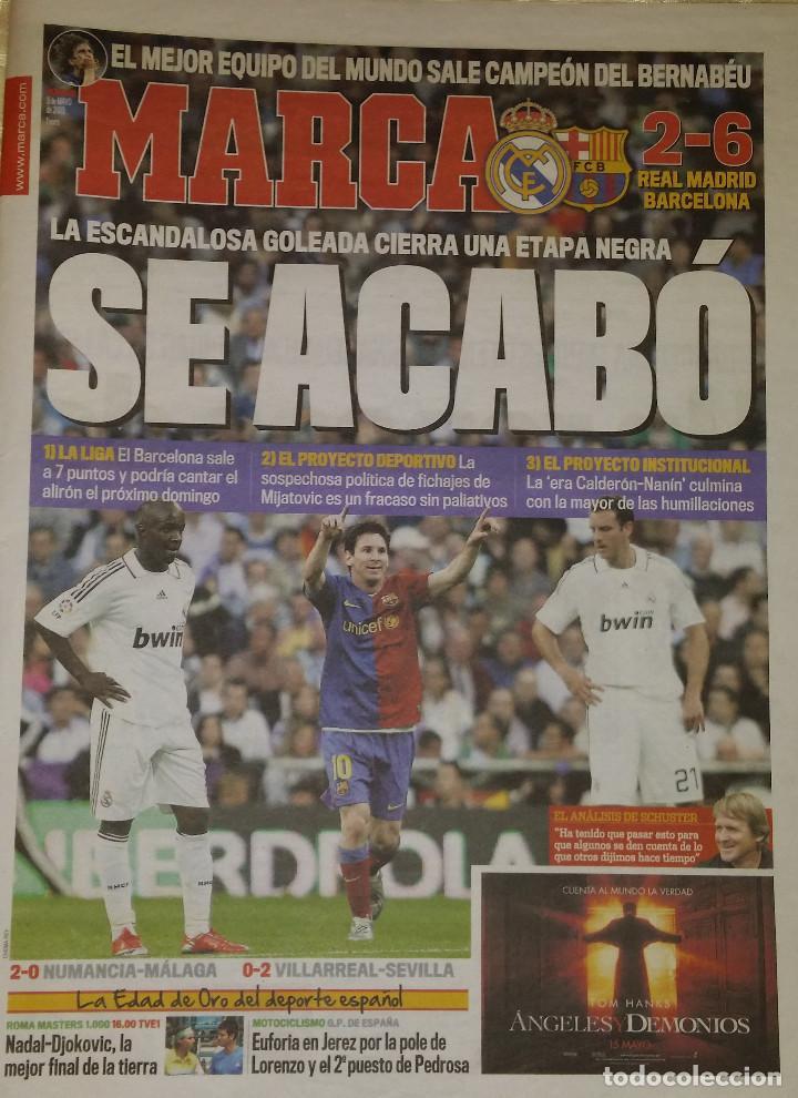 REAL MADRID 2 FC BARCELONA 6 - SE ACABÓ (Coleccionismo Deportivo - Revistas y Periódicos - Marca)