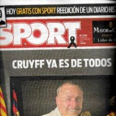 Coleccionismo deportivo: SPORT - CRUYFF YA ES DE TODOS. Lote 195360665