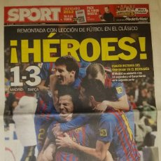 Coleccionismo deportivo: REAL MADRID 1 FC BARCELONA 3 - HÉROES. Lote 195360742