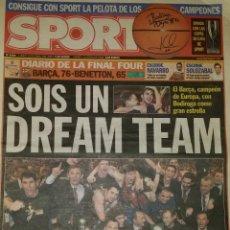 Coleccionismo deportivo: FINAL FOUR 2003 - BARÇA 76 BENETTON 65. Lote 195360966
