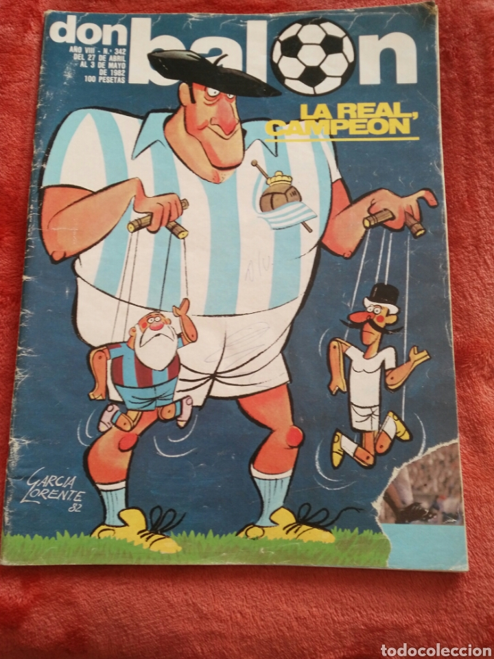 REVOSTA DON BALON N.342 AÑO 1982 (Coleccionismo Deportivo - Revistas y Periódicos - Don Balón)