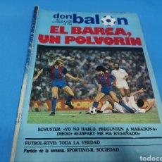 Coleccionismo deportivo: REVISTA DON BALÓN NÚMERO 362, 14/20 SEPTIEMBRE 1982. EL BARCA, UN POLVORÍN. Lote 195457847