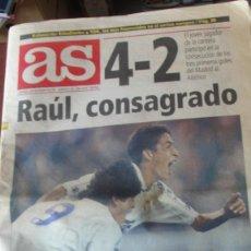 Coleccionismo deportivo: DIARIO AS 5 / 11 / 1994 DEBUT RAUL BERNABEU - 4 - 2 REAL MADRID ATLETICO - ENVIO GRATIS. Lote 195490145