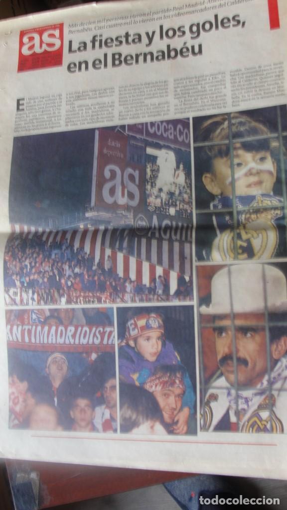 Coleccionismo deportivo: DIARIO AS 5 / 11 / 1994 DEBUT RAUL BERNABEU - 4 - 2 REAL MADRID ATLETICO - ENVIO GRATIS - Foto 3 - 195490145