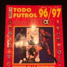 Coleccionismo deportivo: FÚTBOL DON BALÓN EXTRA 36 TODO FÚTBOL TEMPORADA 96-97 - AS MARCA SPORT MUNDO DEPORTIVO CROMO PÓSTER. Lote 195500307