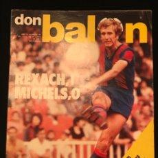 Coleccionismo deportivo: FÚTBOL DON BALÓN 88 - BARÇA - ATHLETIC - FÓRMULA 1 - MIGUELI - PLATINI - AS MARCA SPORT CROMOS. Lote 195501931