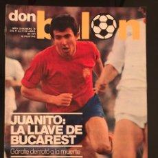 Coleccionismo deportivo: FÚTBOL DON BALÓN 78 - ESPAÑA VS RUMANIA - JUANITO - ZARAGOZA - MARAÑON ESPANYOL- GARATE ATLÉTICO -. Lote 195507383