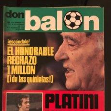 Coleccionismo deportivo: FÚTBOL DON BALÓN 116 - PLATINI - CRUYFF - KEMPES - REP - AS MARCA SPORT CROMOS PÓSTER. Lote 195507937