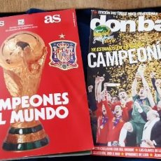 Coleccionismo deportivo: LOTE 2 REVISTAS CONMEMORATIVAS AS DON BALÓN ESPAÑA CAMPEONES MUNDO SUDAFRICA 2010 CAMPEONISIMOS . Lote 195540802