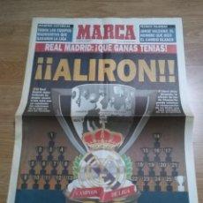Coleccionismo deportivo: MARCA SUPLEMENTO ALIRÓN REAL MADRID CAMPEÓN DE LIGA 1994 1995 94 95. LIGA Nº 26.. Lote 195586555