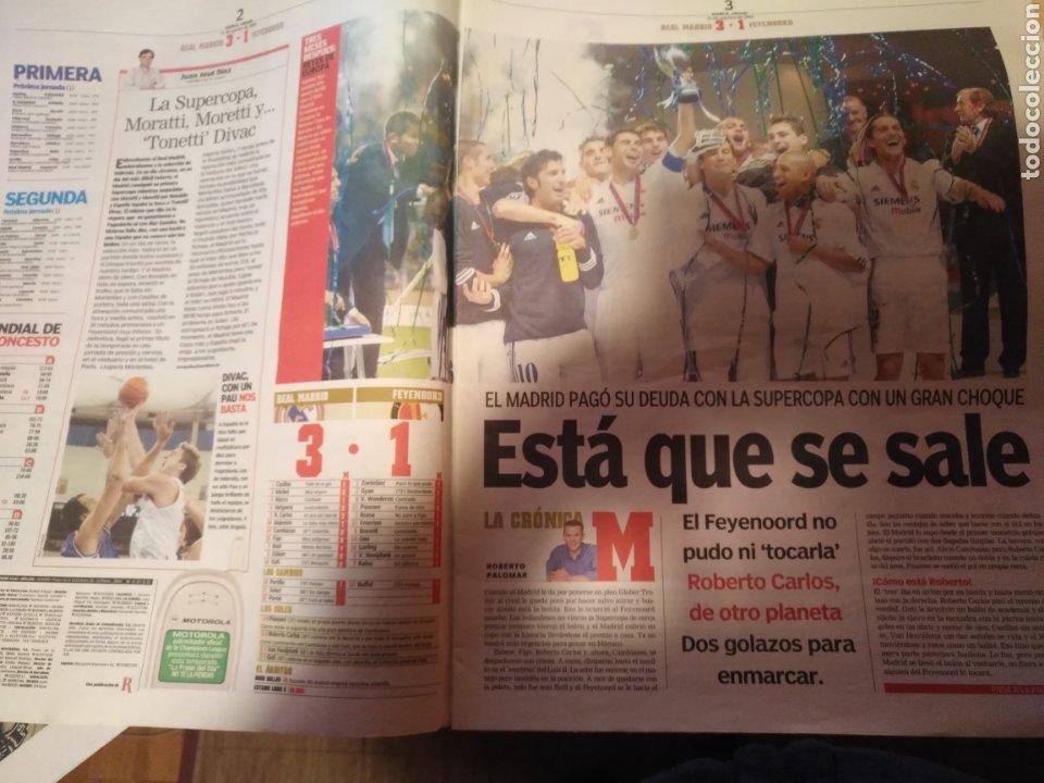 Coleccionismo deportivo: DIARIO MARCA 31 AGOSTO 2002: EL REAL MADRID GANA LA SUPERCOPA DE EUROPA ANTE EL FEYENOORD - Foto 5 - 195588180