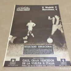 Collectionnisme sportif: 8-6-1959 COPA: R MADRID BARCELONA / COPA EUROPA FINAL: R MADRID STADE REIMS. Lote 195629977