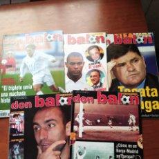 Coleccionismo deportivo: DON BALÓN LOTE 5 NÚMEROS AÑO 2002 BARCELONA MADRID VALENCIA.... Lote 195637548