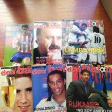 Coleccionismo deportivo: DON BALÓN LOTE 6 NUMEROS AÑO 2003 ATLÉTICO MADRID REAL MADRID BARCELONA... Lote 195638090