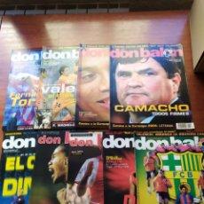 Coleccionismo deportivo: DON BALÓN LOTE 9 NÚMEROS AÑO 2004 BARCELONA MADRID VALENCIA.. Lote 195638597