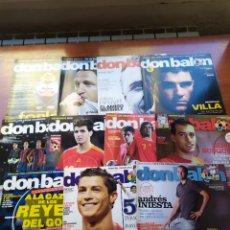 Coleccionismo deportivo: DON BALÓN LOTE 11 NUMEROS AÑOS 2005 2006 Y 2009 BARCELONA MADRID ESPAÑA... Lote 195639435