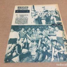 Collectionnisme sportif: 3-9-1963 TROFEO CARRANZA: BENFICA (CAMPEÓN) VALENCIA BARCELONA Y FIORENTINA IMAGENES Y ALINEACIONES. Lote 195903142