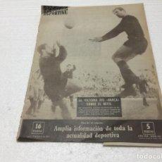 Coleccionismo deportivo: 12-2-1962 BARCELONA PEÑAROL / ZARAGOZA R MADRID OVIEDO AT BILBAO AT MADRID ELCHE VALENCIA TENERIFE. Lote 195903397