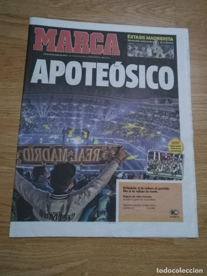 Coleccionismo deportivo: DIARIO MARCA 26 MAYO 2014 EL REAL MADRID - CELEBRACION DE LA DECIMA - APOTEÓSICO - Foto 2 - 195904542