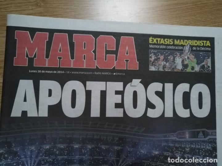 Coleccionismo deportivo: DIARIO MARCA 26 MAYO 2014 EL REAL MADRID - CELEBRACION DE LA DECIMA - APOTEÓSICO - Foto 3 - 195904542