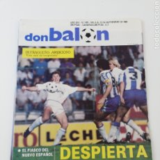 Colecionismo desportivo: REVISTA DON BALON NÚMERO 673 SEPTIEMBRE 1988 BUTRAGUEÑO POSTER RCD ESPAÑOL VER SUMARIO. Lote 195976897