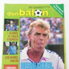 Colecionismo desportivo: REVISTA DON BALON NUMERO 671 AGOSTO 1988 POSTER REAL MURCIA CA OSASUNA VER SUMARIO. Lote 195983043