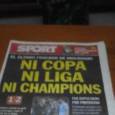 Coleccionismo deportivo: REVISTA SPORT. 18 MAYO 2013. NI COPA NI LIGA NI CHAMPIONS. EST1B3. Lote 196020803