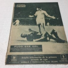 Coleccionismo deportivo: 4-9-1961 BARCELONA STADE REIMS / TENERIFE ZARAGOZA OVIEDO SANTANDER ELCHE RMADRID RESTO JORNADA. Lote 196027832