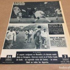 Coleccionismo deportivo: 10-6-1963 VALENCIA BARCELONA ZARAGOZA R MADRID (4-0) / SANTOS BARCELONA PELÉ / TROFEO CONDE DE GODO. Lote 196049786